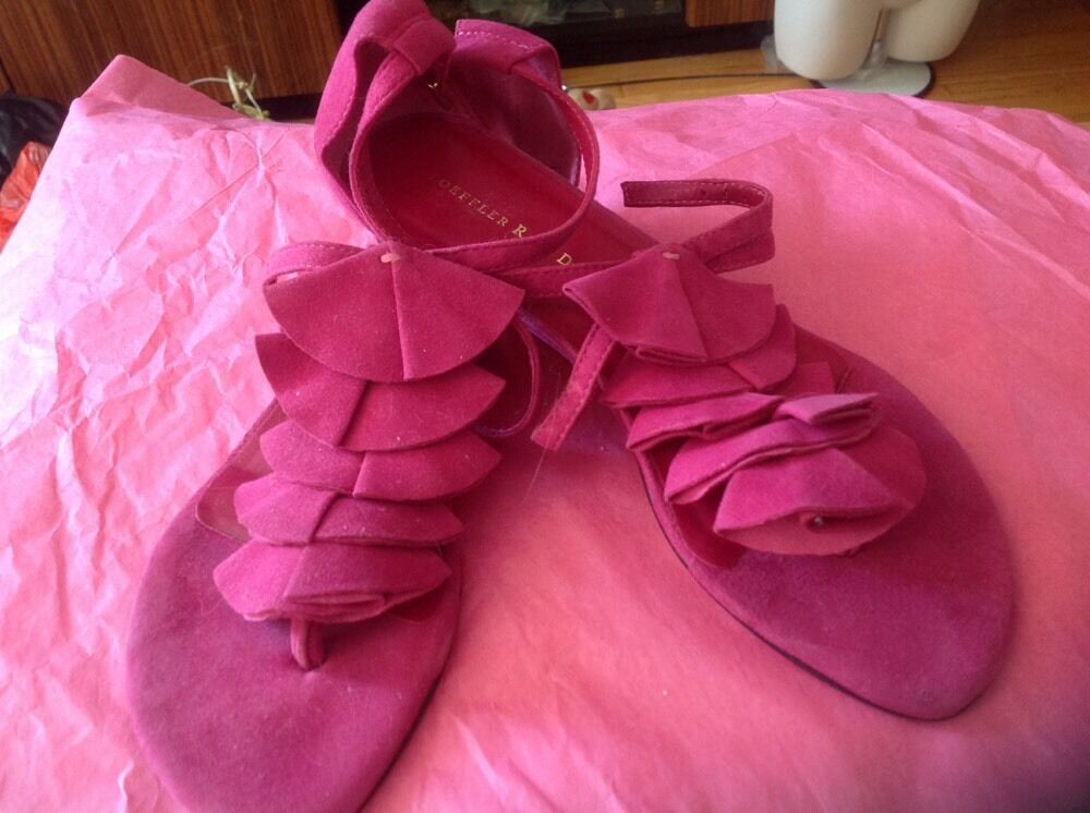 LOEFFLER RANDALL BARNEYS NEW YORK - Pink Suede Leather    - Sandals, Size  35,5 9f41e2