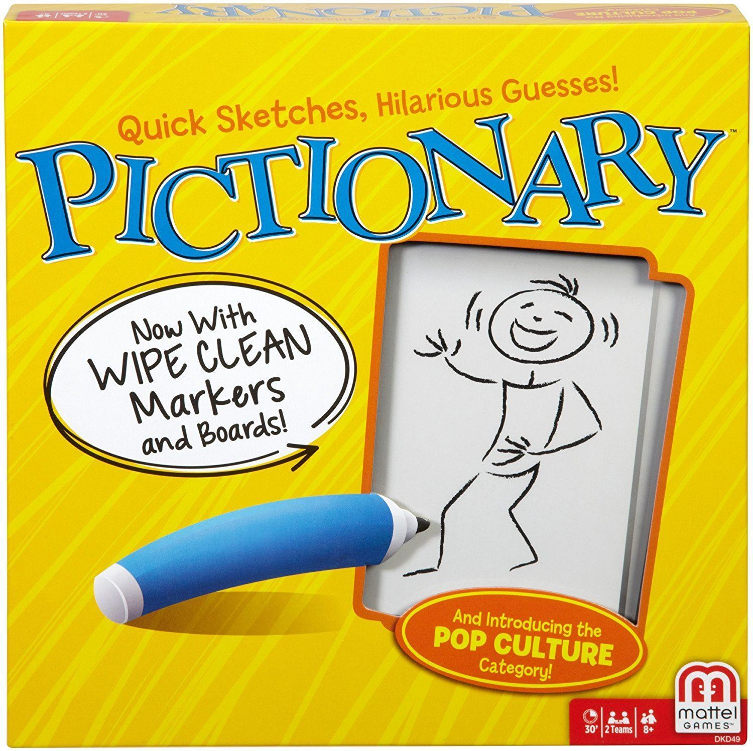Pictionary Board Game Family Picture Drawing Guessing Game