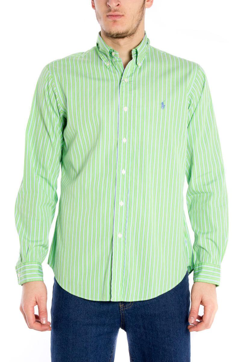 Camicia Ralph Lauren Shirt CUSTOM FIT  Herren Verde A04WCBPSC7487E3385 SP226A