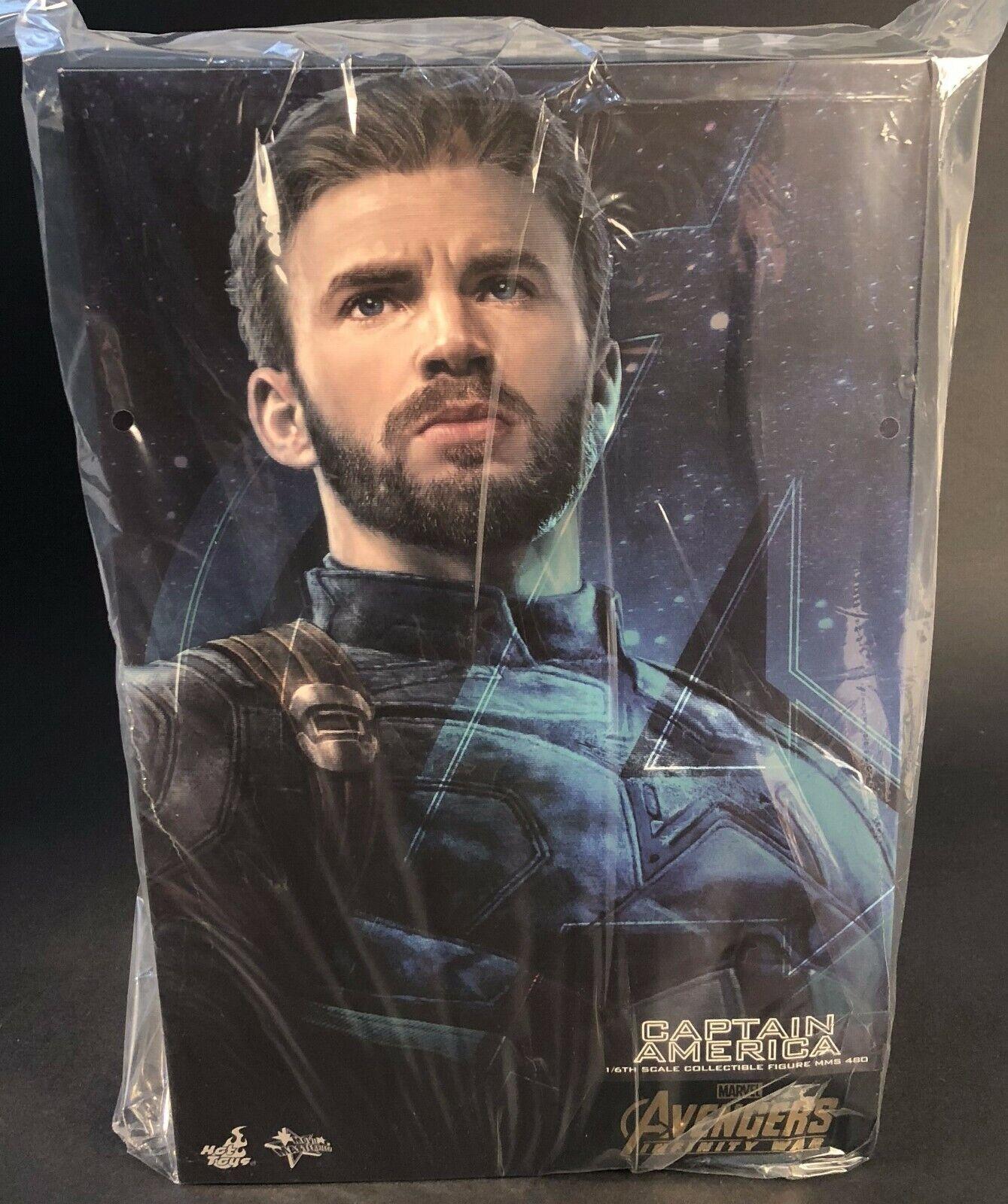 HOT TOYS MMS480 Avengers 3  Infinity War Captain America Chris Evans 1 6 Figure