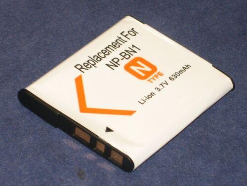 Batterie 630mAh type NP-BN1 Pour Sony Cyber-shot DSC-W530