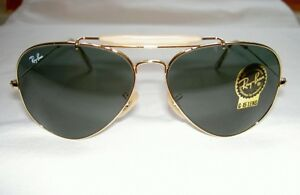 3a8549a1dbb New RAY BAN Sunglasses AVIATOR Gold OUTDOORSMAN II RB 3029 L2112 G ...