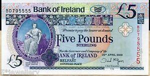 2008 Banque D'irlande Belfast £ 5 Cinq 10 Livres Dix Livre Billets Véritable Monnaie Notes-afficher Le Titre D'origine Iswkbmip-07230253-194723670