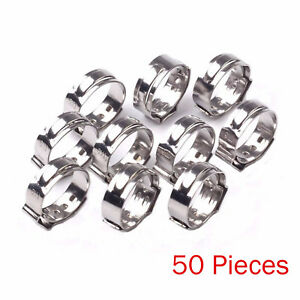 50PCS-1-2-PEX-17-5mm-Stainless-Steel-Clamp-Cinch-Rings-Crimp-Pinch-Fittings