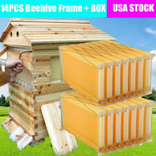 14pc Free Flowing Honey Hive Beehive Frames Unique Beehive House Cedarwood Box