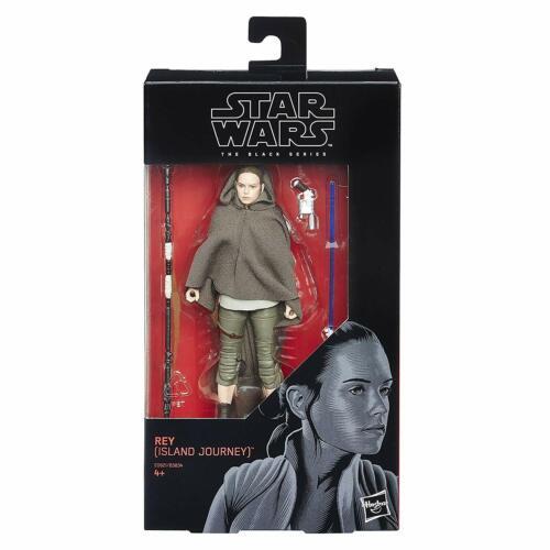 envoi rapide * Hasbro Star Wars The Black Series Rey île voyage Figure Neuf