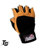 Schiek Lifting Gloves 425 Power Series With Wrist Wraps Fitness Gym Workout
