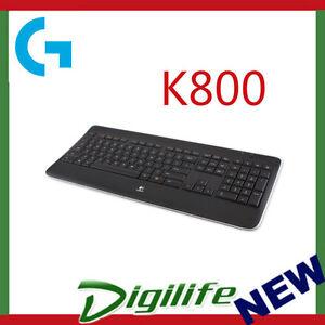 fa9c0887738 Logitech K800 WIRELESS ILLUMINATED KEYBOARD 97855070586 | eBay