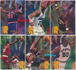 1994-95-FLAIR-REJECTOR-6-CARD-INSERT-SET-SHAQ-EWING-ZO-ROBINSON-OLAJUWON-MUTOMBO