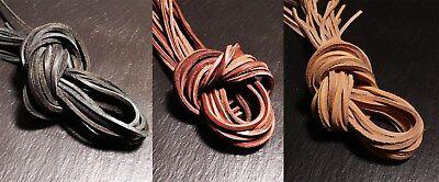 Lederband Lederbänder Lederriemen 6mm 1m schwarz Rundlederriemen echt Rindleder