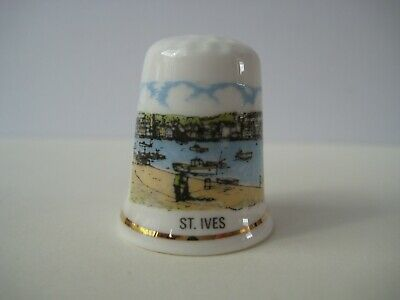 Porcelain China Collectable Thimble Antique Silver Singer Sewing Machine with Free Gift Box