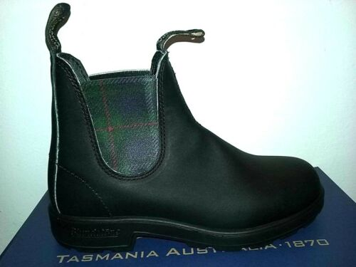 Unisex 44 Tartan A 1614 Nero Blundstone Stivaletti Pelle Scarpe Boots Stivali 37 xXHqpg4
