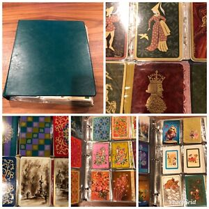 720-vintage-Single-Swap-Playing-Card-Collection-in-binder-most-all-blanks