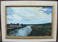 Gunnar Berglund 1906-1992, Kanal bei Ribe, verso datiert 1968