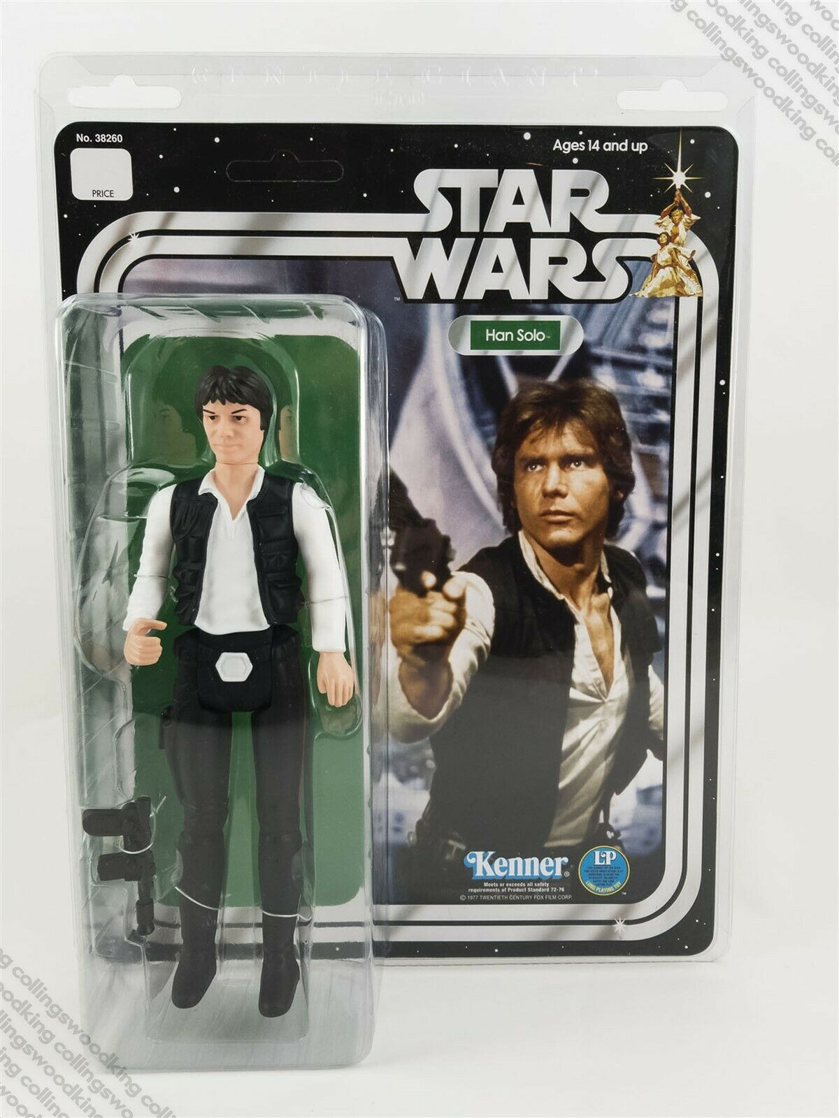 Gentle Giant Jumbo Vintage estrella guerras Han Solo azione  cifra MIP - Kenner 1978  distribuzione globale