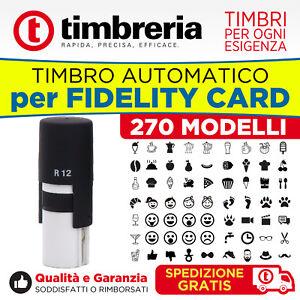 TIMBRO-PER-TESSERE-E-FIDELITY-AUTOINCHIOSTRANTE-AUTOMATICO-ROTONDO-12mm-PRONTO