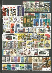 DDR 1981 gestempelt kompletter Jahrgang mit allen Einzelm aus Bl+ZD