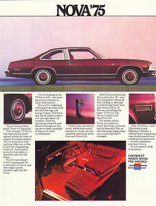 Chevelle Brochure Coupe//Sedan NOS 1974 Chevrolet