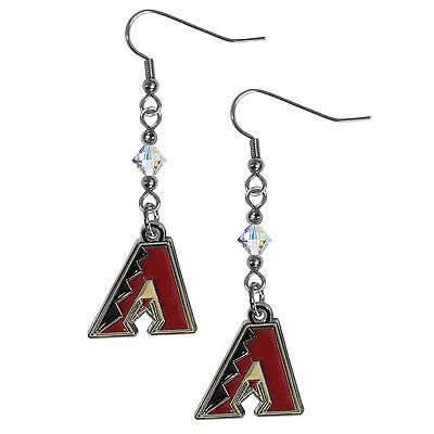 Unter Der Voraussetzung Arizona Diamondbacks Mlb Kristall Lange Ohrringe Schnelle WäRmeableitung Baseball & Softball