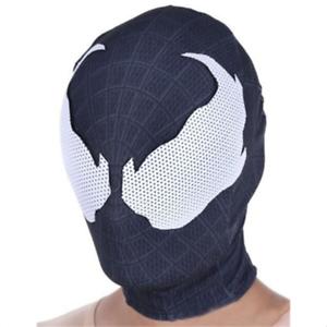 56f2eeccee7 US SHIP Halloween Venom Hood Superhero Spider-Man 3D Mask Cosplay ...