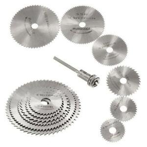 6 Pcs 22-50mm HSS Circular Saw Blade Cutting Discs Set and Mandrel for Drill