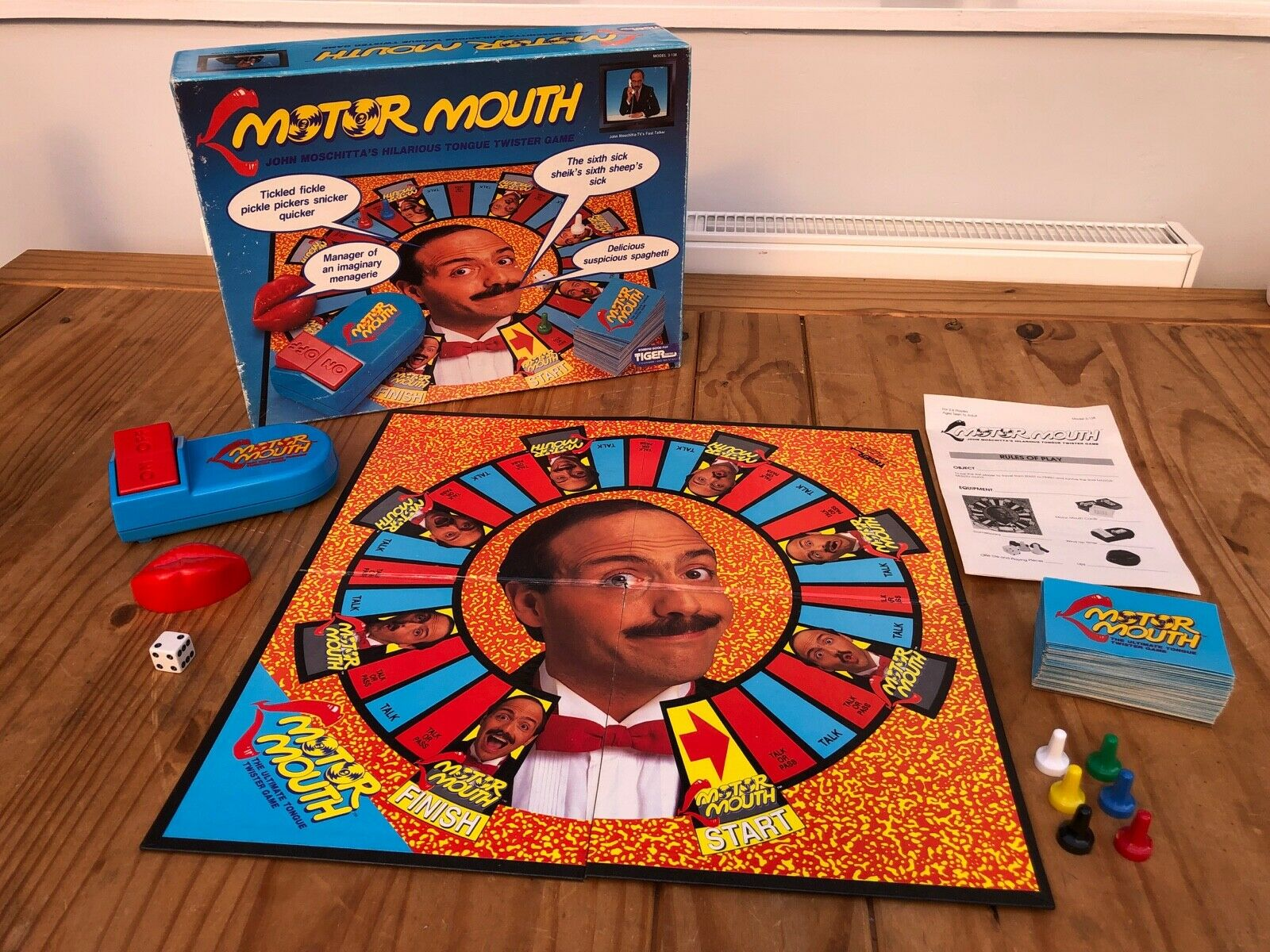 Motor Mouth Board Game (Tiger Games) 1990 - Excellent Condition - 100% Complete.