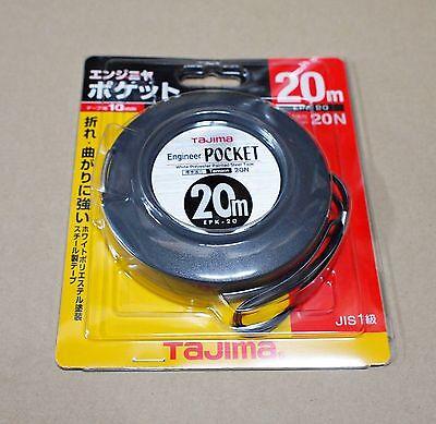 New Tajima Engineers Pocket Steel Tapes Measure 10m 20m 30m EPK-10 EPK-20 EPK-30