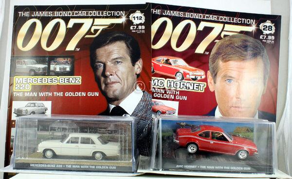 JAMES BOND goldEN GUN AMC HORNET & MERCEDES 220