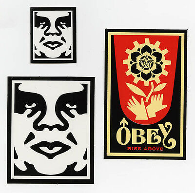 OBEY GIANT Shepard Fairey 3 STICKER LOT Set #9 *BRAND NEW* MINT Andre The Giant