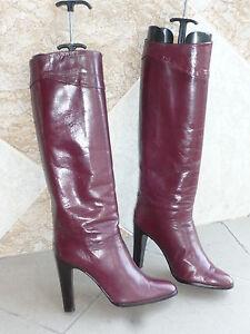 1982 39 Vintage bordeaux T Lydia Stiefel Italien zzCq5