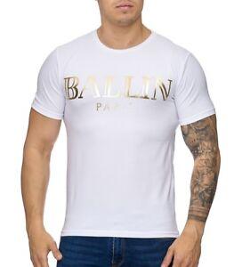 Ballin T 1004 Shirt Homme Détails Tee Blanc Sur Doré JuFKcTl13