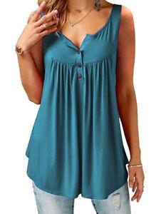 Brace-Pleated-Slip-Camisole-Sleeveless-Casual-Women-039-s-Vest-Dark-Turquoise-3XL
