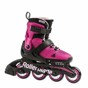 Rollerblade-USA-Microblade-Girls-Adjustable-Fitness-Inline-Skate-Medium-Pink
