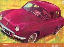 Renault Dauphine 1957-58 UK Market Sales Brochure
