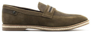 Base London Actor Leather Formal Slip On Smart Casual Mens Shoes Size 7-12