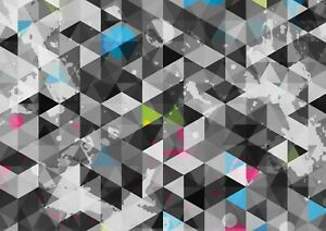 A1-Geometric-Pattern-Poster-Print-60-x-90cm-180gsm-Colourful-Wall-Art-14455