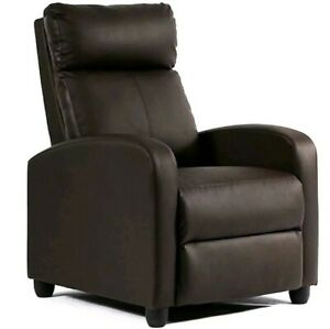 Phenomenal Details About Recliner Chair Modern Leather Chaise Couch Single Accent Recliner Chair Sofa Machost Co Dining Chair Design Ideas Machostcouk