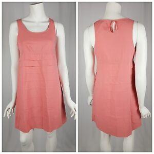 GAP-Shift-Dress-Womens-Size-2-Pink-Tiered-Keyhole-Back-Mini-Sleeveless-Casual