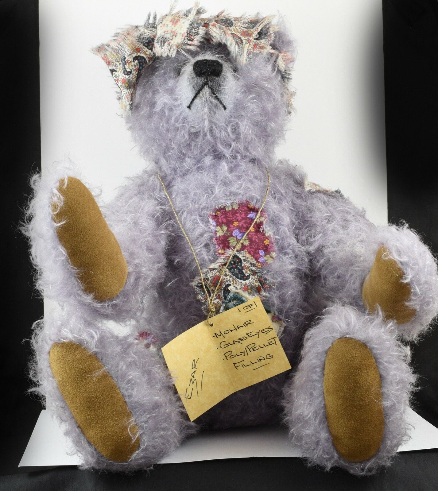 Very Cute OOAK Ruben Bears Lilac Mohair Glass Eyed Bear 1 1  Ezar