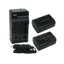2 Battery + Charger Combo Set for Sony NP-FV50 NP-FV40 NP-FV30 InfoLithium