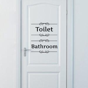 Bad-Toilette-WC-Wandsticker-Spruch-Wandaufkleber-Aufkleber-Badezimmer-Folie