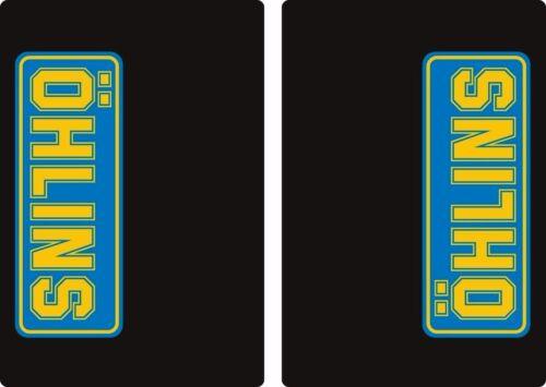 Ohlins Suspension Bike Upper Fork Decal Sticker Graphic Set Adhesive 2Pcs