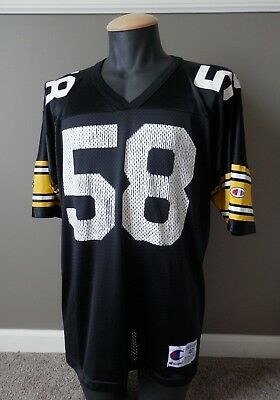 4b753801a67 Vintage Jack Lambert Pittsburgh Steelers Champion Jersey Sz 40 NFL  Distressed