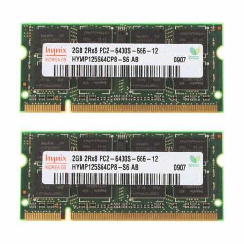 Tested EXC 8GB 4GB Lot 4x 2x 2GB Hynix 2Rx8 PC2-6400S DDR2 800 Laptop Memory RAM