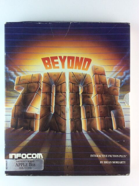 Beyond Zork Apple IIGS Infocom Vintage Rare Adventure Game w/ Box, Manuals, etc.