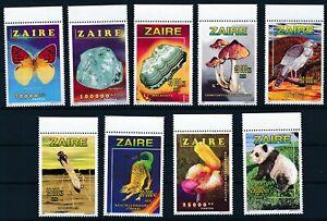 [B33] Zaire N° 1535/43**, la série complète - Superbe. Cote 400€