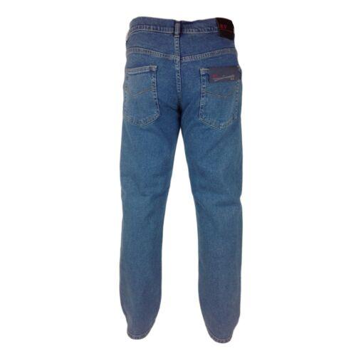 Jeans da Uomo Stretch Extra RV morbido W 32-54 Gamba 27 29 31 33 vestibilità normale di base