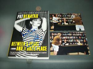 Pat Benatar Rare Signed Book Between A Heart And Rock border=