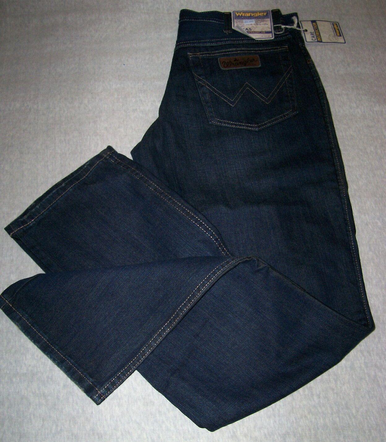 WRANGLER Jeans Texas Old blu nero Equitazione W33 L31