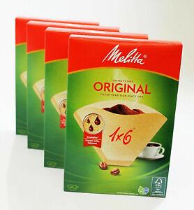 ORIGINALE Melitta 1 x 6 Macchina del Caffè Filtri di Carta Marrone scatola di 40 MEL6761343